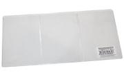 Обложка для автодокументов трехсекционная, 262х122 мм (в разлож. виде), ПВХ, прозрачная, ДПС, 1415