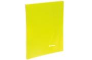 """Папка 20 вклад. Berlingo """"Neon"""", 14мм, 700мкм, неоновая желтая"""