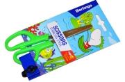 Ножницы детские Berlingo 13, 5см, ассорти, европодвес