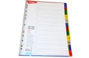 Разделитель листов Berlingo А4, 12 листов, цифровой 1-12, цветной, пластиковый