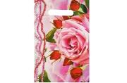 """Пакет """"Розовые бусы"""", полиэтиленовый с вырубной ручкой 20 х 30 см, 35 мкм"""