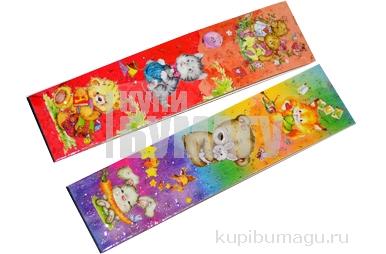 """Закладка - магнит для книг, 25*200мм, ArtSpace """"Мишки"""", блестки"""