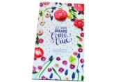 """Телефонная книга А5, 80л., 7БЦ,  """"Яркие цветы"""", выборочный уф-лак, с высечкой, OfficeSpace"""