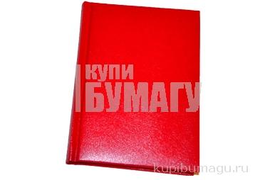 """Ежедневник недатированный, A6, 136л., балакрон, OfficeSpace """"Derby"""", красный"""