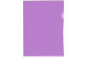 Папка-уголок OfficeSpace, А4, 150мкм, прозрачная фиолетовая
