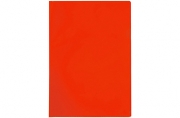 Папка-уголок А4, 100мкм, прозрачная красная OfficeSpace,