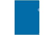 Папка-уголок А4, 100мкм, прозрачная синяя OfficeSpace,