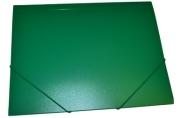 Папка на резинкеА4, 500мкм, зеленая OfficeSpace