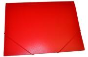 Папка на резинкеА4, 500мкм, красная OfficeSpace