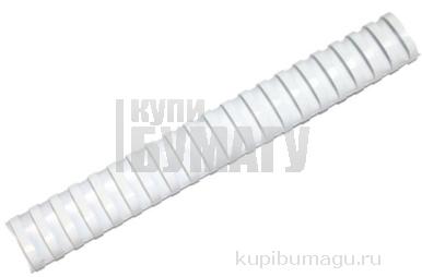 Пружины для переплета пластиковые ProMega Office 38мм белые 50шт/уп.