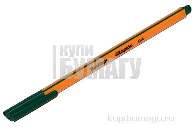 """Ручка капиллярная Berlingo """"Rapido"""" зеленая, 0,4 мм, трехгранная"""