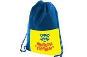 """Мешок для обуви 1 отделение Мульти-Пульти """"Приключения Енота"""", 340*420мм, карман на молнии, синий"""