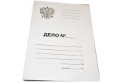Папка Дело OfficeSpace, Герб России, картон немелованный, 300г/м2, белый, до 200л.