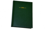 "2019 Еженедневник дат, A6, 176л., балакрон,  ""Ariane"", зеленый, OfficeSpace"