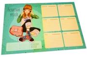 """Расписание уроков с расписанием звонков A4 ArtSpace """"Девчонки"""""""