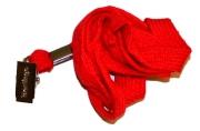 Шнурок для бейджей Berlingo, 45см, металлический клип, красный