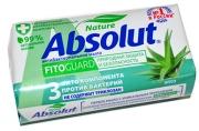 """Мыло туалетное Absolut """"Алоэ"""", антибактериальное, бумажная обертка, 90г"""