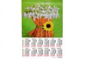Календари-плакаты А2 420*594 мм Цветы 2017 г.