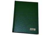 2019 Ежедневник дат, A6, 168л., бумвинил, зеленый, OfficeSpace