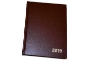 2019 Ежедневник дат, A6, 168л., бумвинил, коричневый, OfficeSpace