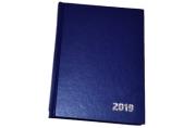 2019 Ежедневник дат, A6, 168л., бумвинил, синий, OfficeSpace