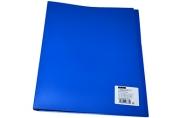 Папка 2 кольца 25мм синий пластик 500мкм А4 OfficeSpace