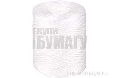 Шпагат полипропиленовый, 1000текс, 500м, 0, 5кг, белый, бобина