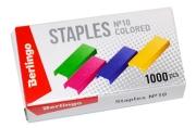 Скобы 10 Berlingo цветные, 1000шт.
