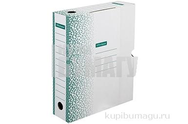 """Короб архивный с клапаном OfficeSpace """"Standard"""" плотный, микрогофрокартон,  75мм, зеленый, до 700л."""