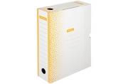"""Короб архивный с клапаном OfficeSpace """"Standard"""" плотный, микрогофрокартон,  75мм, оранжевый, до 700л"""
