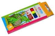 """Фломастеры ArtSpace """"Динозаврики"""", 06цв., смываемые, картон, европодвес"""