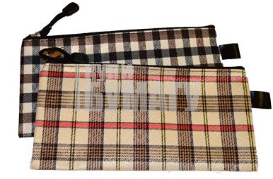 Папка-конверт на молнии, формат А65, «Шотландка», МИКС