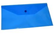 Папка-конверт на кнопке OfficeSpace С6 (135*250мм), 150мкм, полупрозрачная, синяя