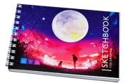 "Скетчбук-блокнот для эскизов и зарисовок 60л. А6 на гребне ArtSpace ""Bright world"", 120г/м2"
