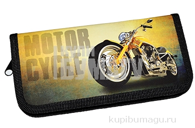 """Пенал 1 отделение, 190*90 ArtSpace """"Motorcycle"""", ламинация"""