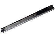 Нож канцелярский 9мм OfficeSpace, с фиксатором, металл. направляющие, клип, европодвес