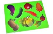 "Трафарет-раскраска Мульти-Пульти ""Овощи"""