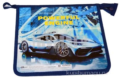 "Папка для тетрадей 1 отделение, А5, ArtSpace ""Powerfull engine"", картон/пластик, на молнии"