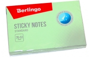 """Самоклеящийся блок Berlingo """"Standard"""", 76*51мм, 100л, зеленый"""