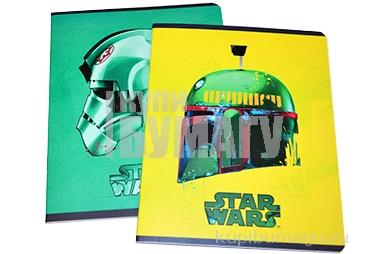 """Тетрадь 48л., А5, клетка Hatber """"Lucas-Star Wars. Звездные войны"""", матовая ламинация"""