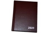2020 Ежедневник датир. 2020г., A6, 168л., бумвинил, OfficeSpace, коричневый