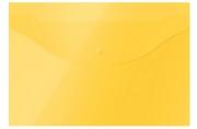 Папка-конверт на кнопке OfficeSpace А4, 120мкм, желтая