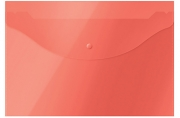 Папка-конверт на кнопке OfficeSpace А4, 120мкм, красная