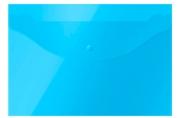 Папка-конверт на кнопке OfficeSpace А4, 120мкм, синяя