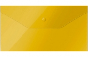 Папка-конверт на кнопке OfficeSpace, C6, 150мкм, желтая