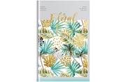 "Ежедневник недатир. A5, 160л., 7БЦ OfficeSpace ""Цветы. Tropical floral"", матовая ламинация, фольга"