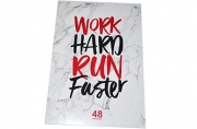 "Тетрадь А4 48клетка BG ""Work hard"""