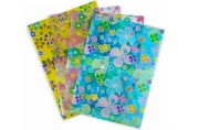 Папка-конверт на кнопке, формат А4, 90 мкр, «Цветочки/Сердечки», МИКС