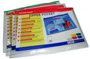 """Папка-конверт на молнии А4, 140мкм, Erich Krause """"PVC Zip Pocket"""", прозрачная"""