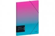 """Папка для тетрадей на резинке Berlingo """"Radiance"""" А5+, 600мкм, розовый/голубой градиент, с рисунком"""
